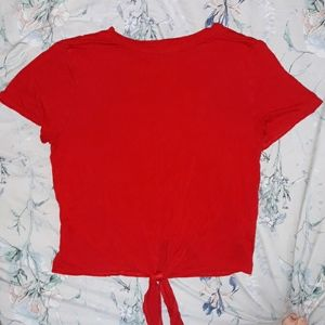 Lily White Red Shortsleeve Top